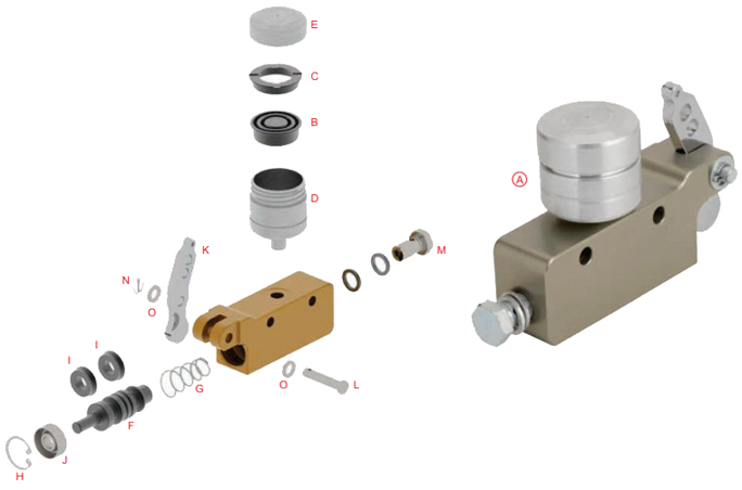 OTK Tony Kart Master Cylinder BSM4, BSM5