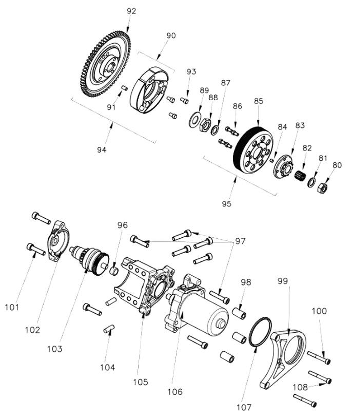 Rok VLR Starter, Clutch Parts
