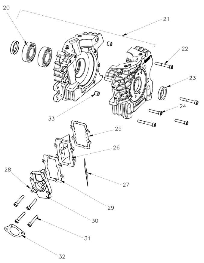 Rok VLR Crank Case Parts