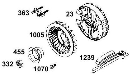 Briggs Animal, LO206 - Flywheel and Recoil Parts