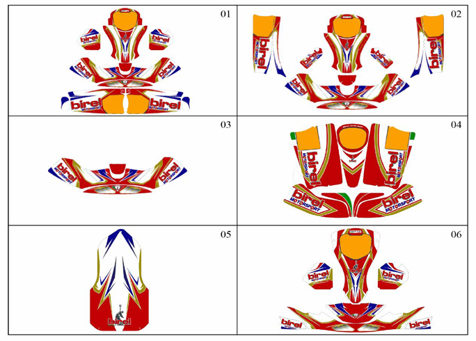 Birel Sticker Kits - 2013