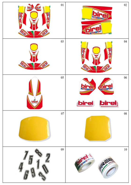 Birel Sticker Kits - 2011