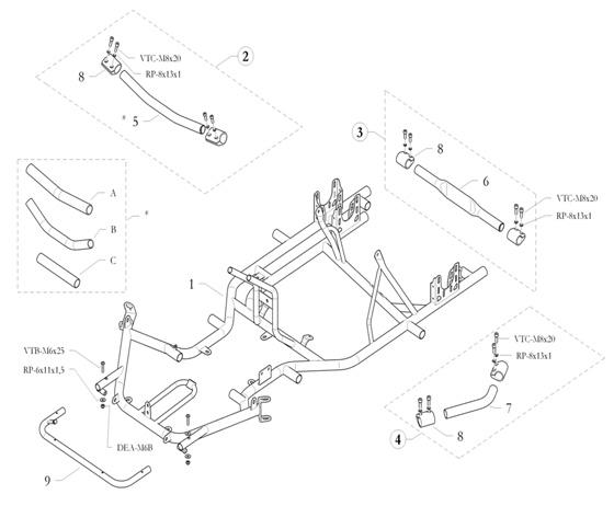 Birel ART Kart Parts :: Chassis & Parts :: Comet Kart Sales