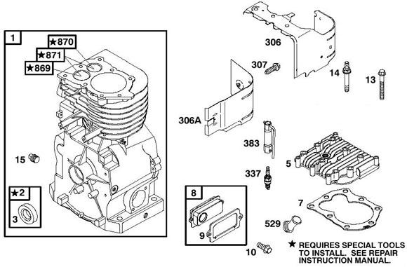 Briggs Raptor Engine Parts Flat Head Briggs Engine Parts 4