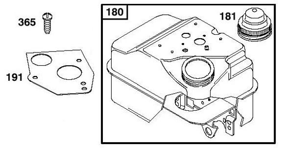 Briggs Flathead - Fuel Tank Parts