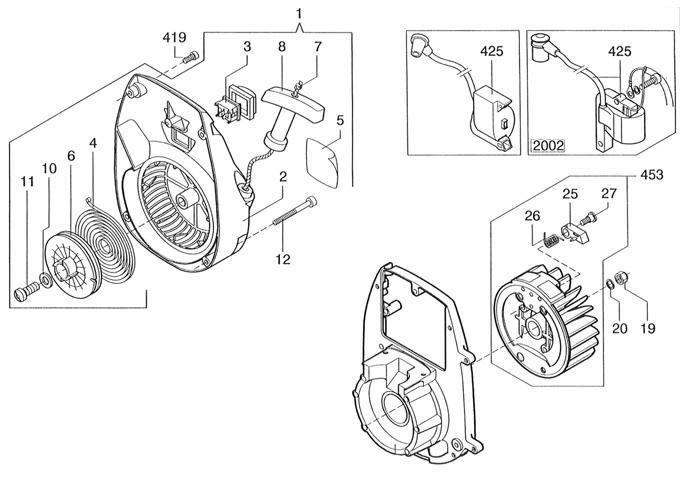 C-51 Recoil/Flywheel Parts