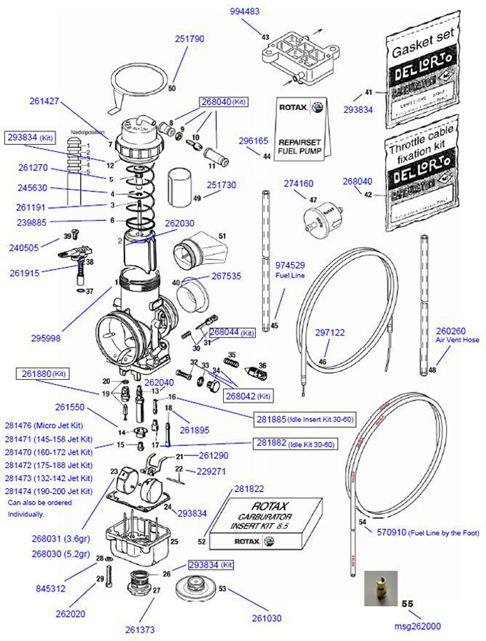 Rotax Carburetor Parts