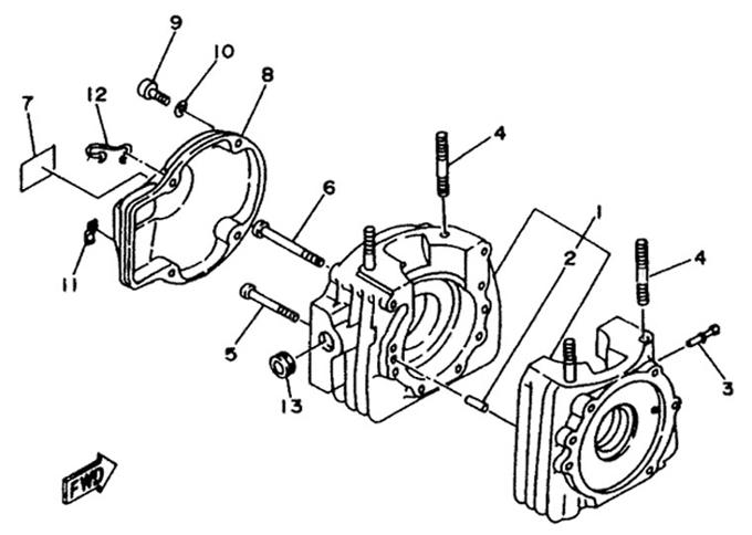 Yamaha Crankcase Parts