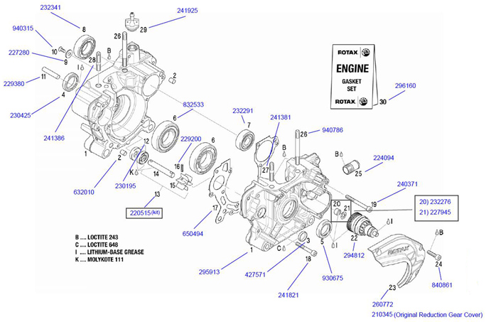 rotax crank case parts rotax max engine parts 2 cycle engine Lister Petter Engine Parts Diagram rotax crank case parts