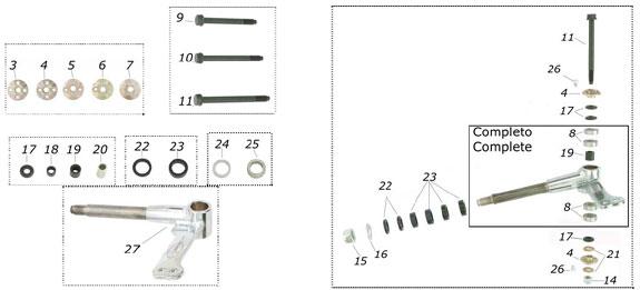 CRG Spindle - 17mm Shaft, 8mm Kingpin - Ven99, 2000up, Ven04