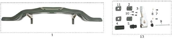 CRG Plastic Rear Bumper and Hardware