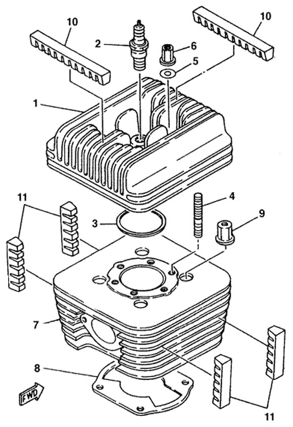 Two Stroke Engine Parts Diagram