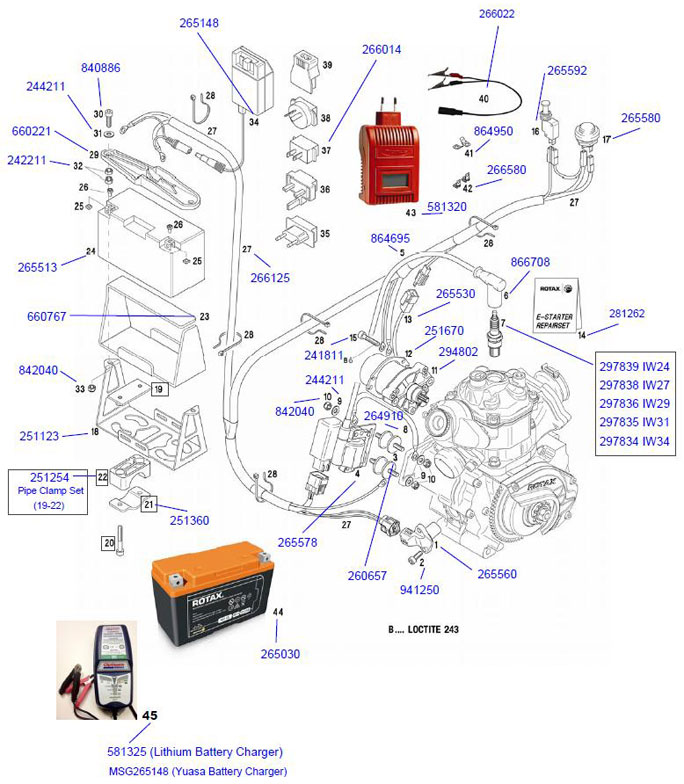 Rotax Max Engine Parts 2Cycle Engine Parts Engines Parts – Rotax 503 Wiring Schematic