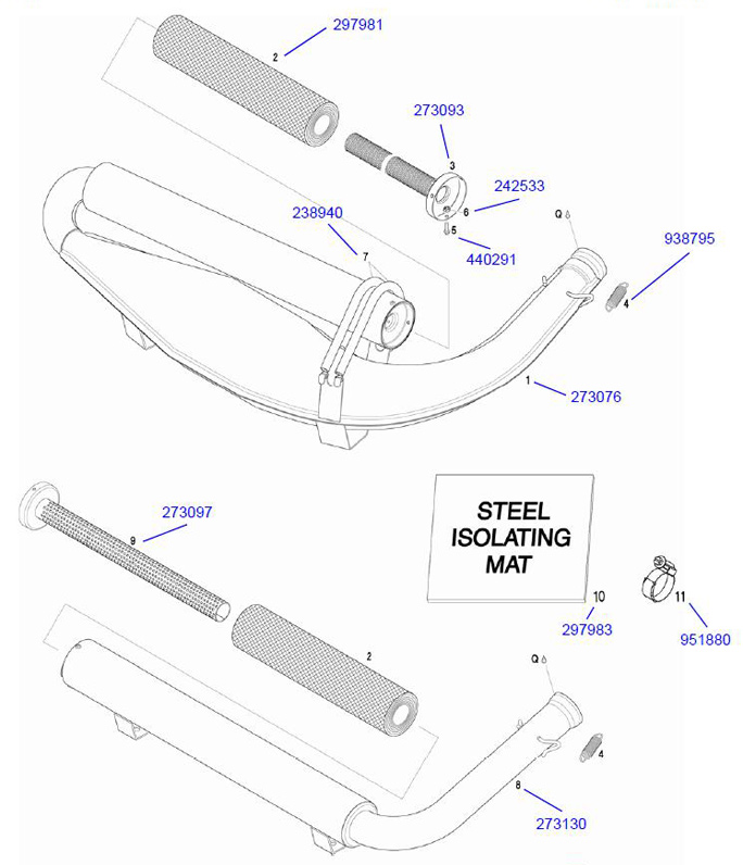 Rotax Exhaust Parts