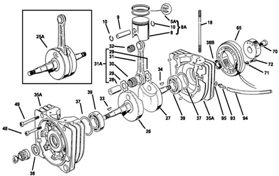 KPV Bottom End Parts, Piston Assy.