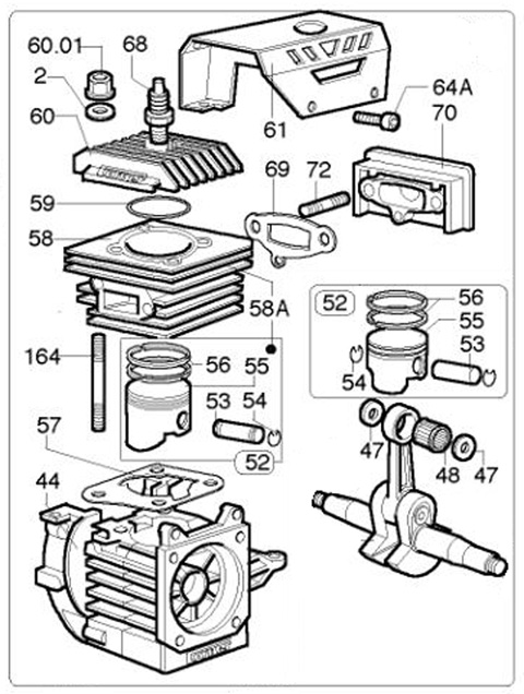 Comer K 80 Engine Parts 2 Cycle Engine Parts Engines