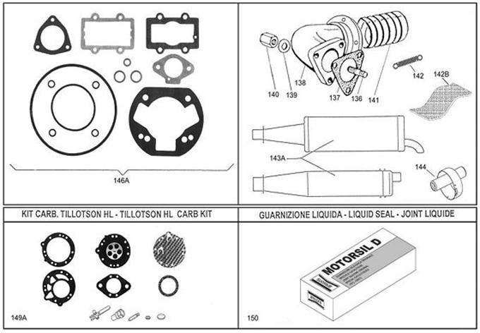 Leopard Exhaust, Gaskets, Carb Rebuild Kits