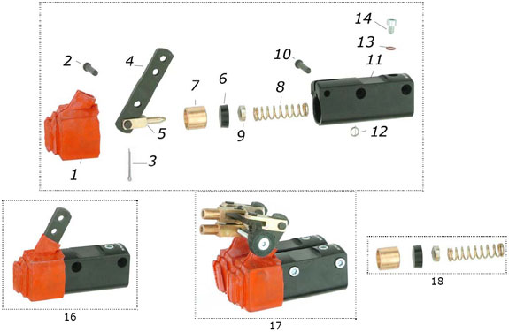CRG VEN99 Billet Master Cylinder Parts