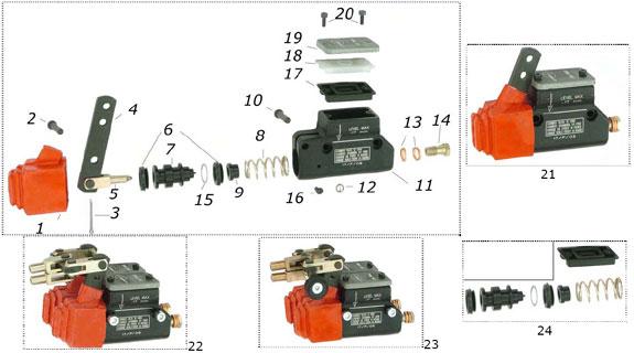 CRG 2000Up, VEN04, VEN05 Master Cylinder Parts
