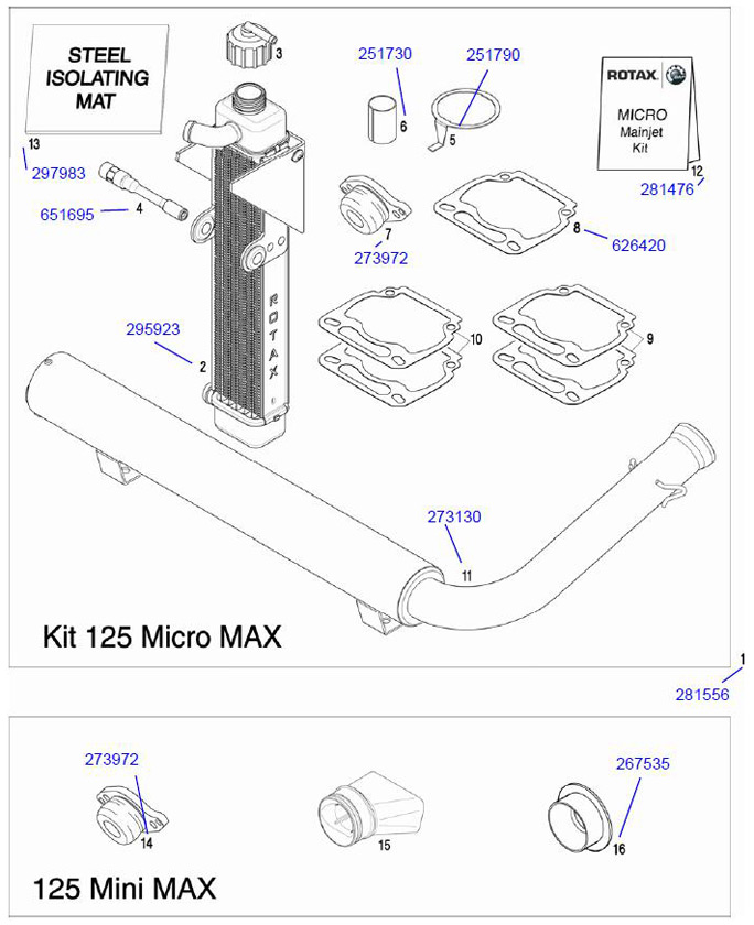 Rotax Micro Max Exhaust