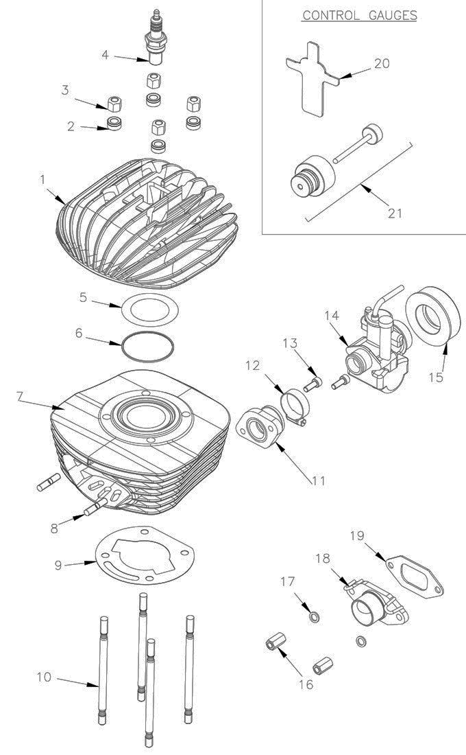 Mini Rok Head, Cylinder Parts