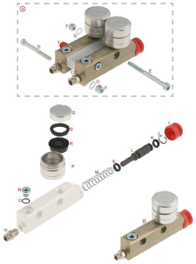 OTK Tony Kart Master Cylinder BS5, BS6, BS7