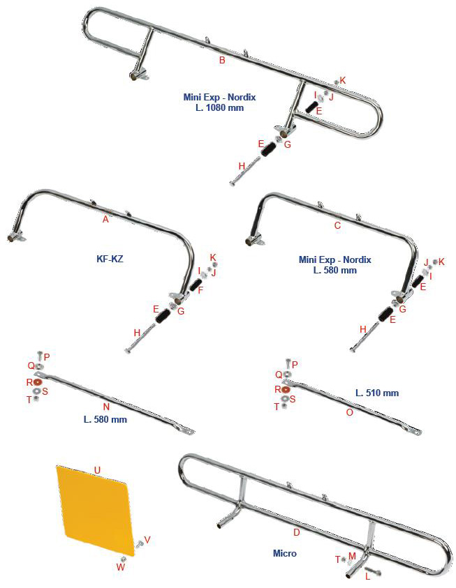 OTK Tony Kart Rear Metal Bumper