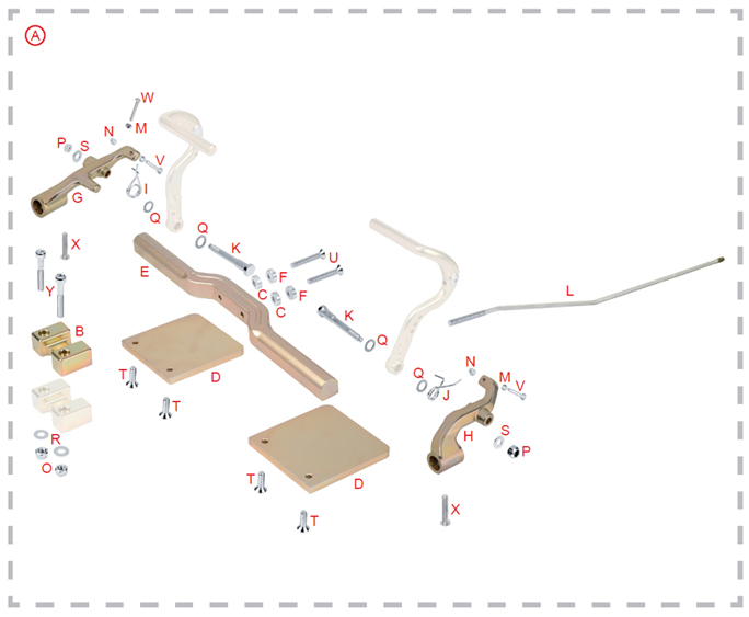 OTK Tony Kart Full Size Kart Rudder Pedal Kit