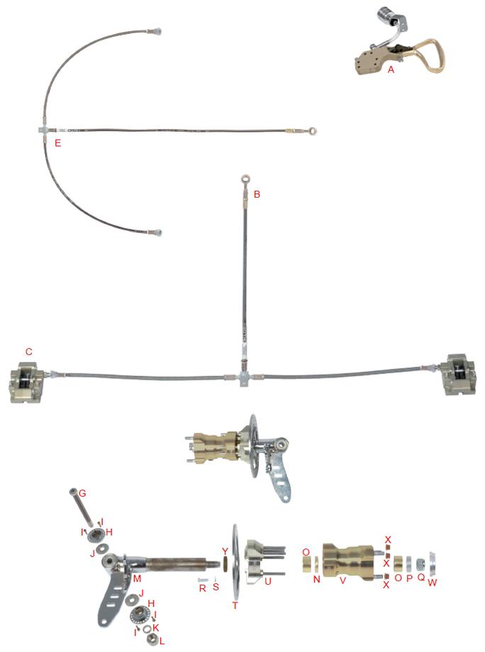 OTK Tony Kart SA3, BS7 Front Brake Spindle Parts