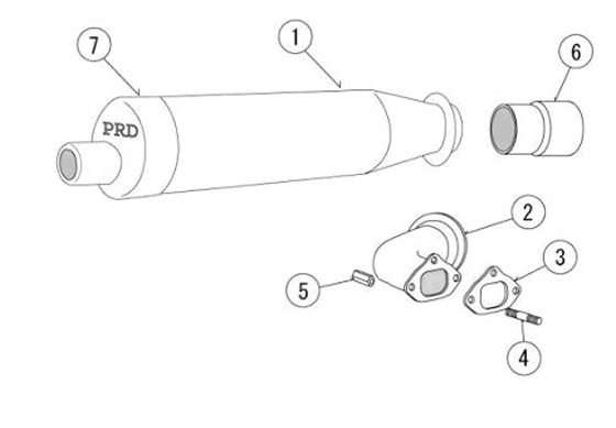 PRD Exhaust Pipe and Header Parts