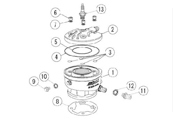 PRD Head and Cylinder Parts