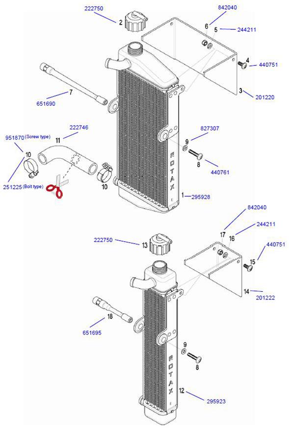 Rotax Radiator Parts