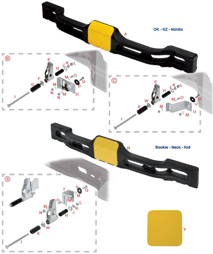 OTK Tony Kart Plastic Rear Bumper and Hardware