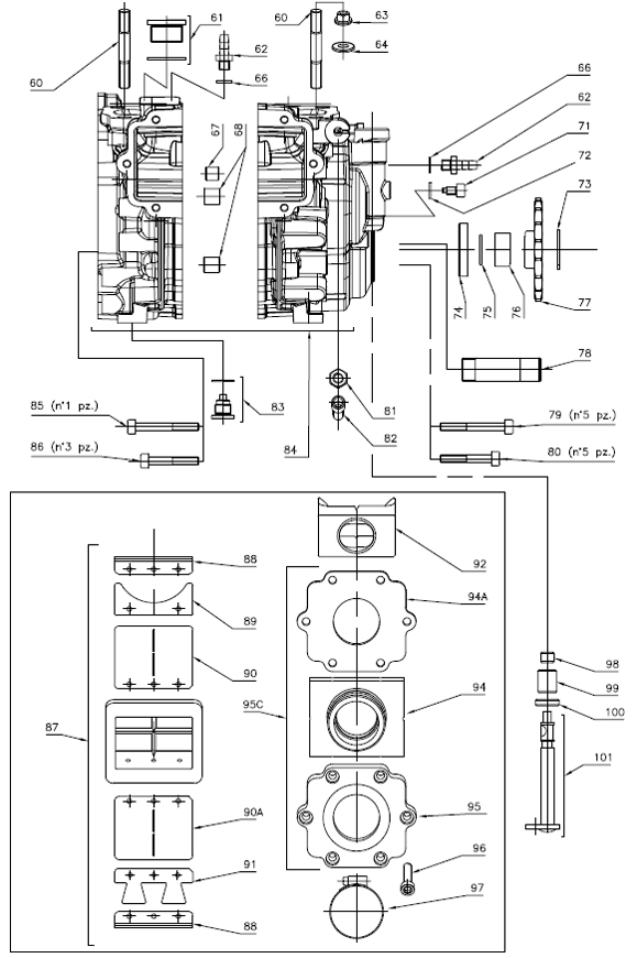 Rok Shifter Crankcase and Reed Parts