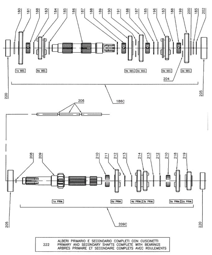Rok Shifter Splined Shafts, Gearbox Parts
