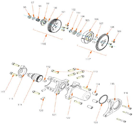 Rok TT Starter and Clutch Parts