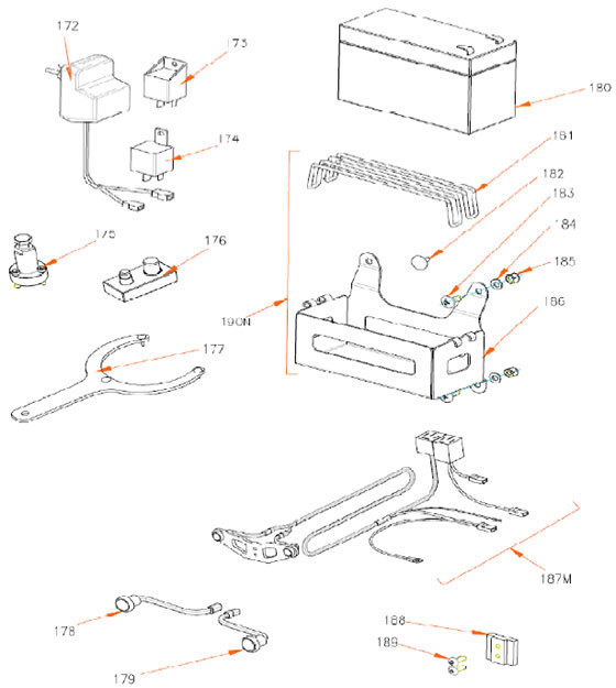 Rok TT Battery/Electrical System Parts