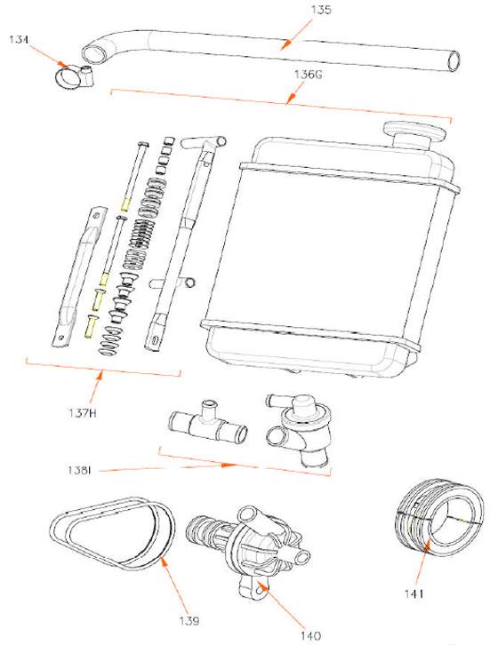 Rok TT Radiator Parts