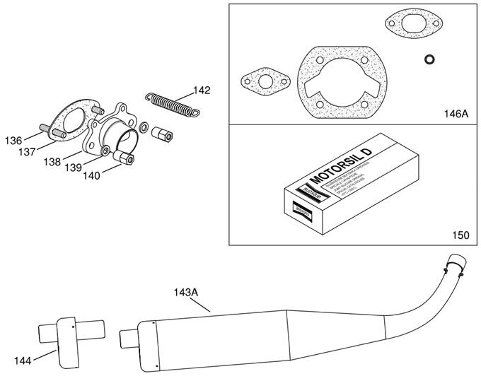 IAME Mini Swift Exhaust Pipe, Header, Gaskets