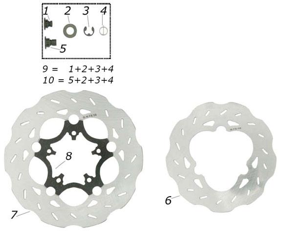 CRG VEN04 Brake Discs and Hub