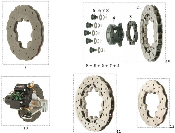 CRG VEN05 Brake Discs and Hubs