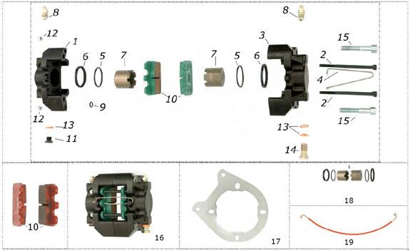 CRG VEN05 Rear Brake Caliper Parts
