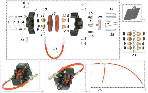 CRG VEN99 Front Brake Caliper Parts