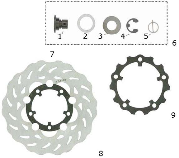 CRG NewAge Brake Disc Parts