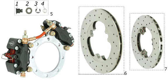 CRG 2000Up Brake Disc Parts
