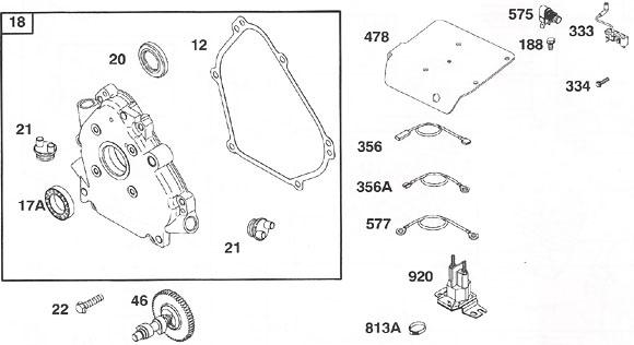 Briggs World Formula - Crankcase and Cam Parts
