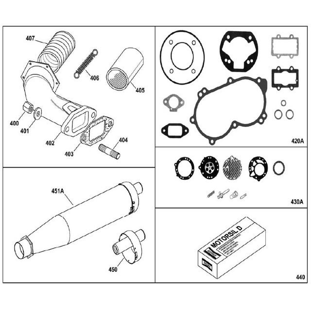 X30 Exhaust Parts and Gasket Kit