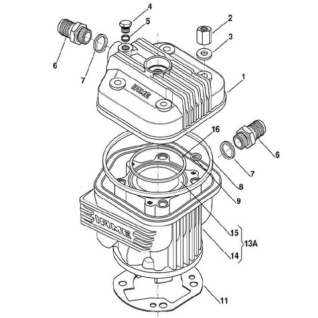 X30 Head and Cylinder Parts