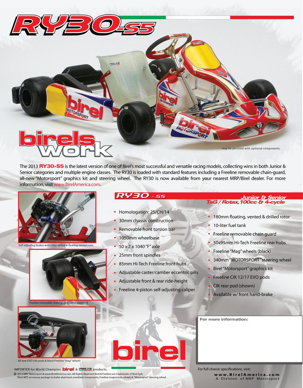 Birel RY30 Senior/Junior Kart :: Birel Karts :: Complete Racing Kart