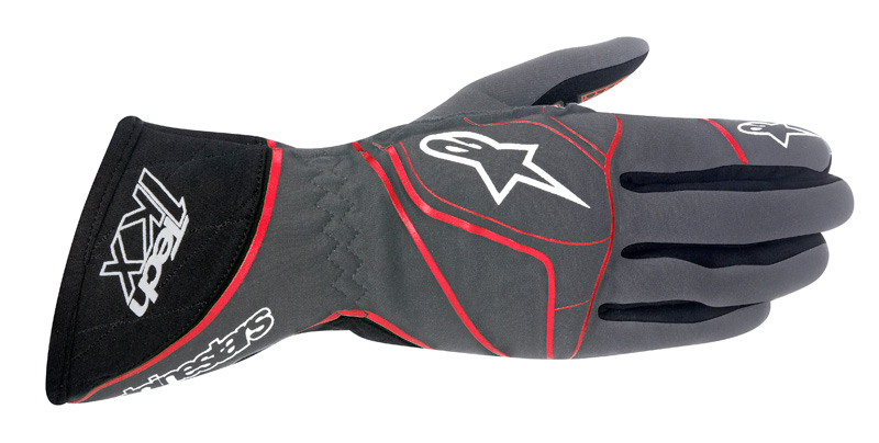 Alpinestars Tech 1-KX Gloves Anthracite Black Red